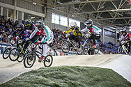 #179 (MARQUART Simon M.) SUI at Round 2 of the 2019 UCI BMX Supercross World Cup in Manchester, Great Britain