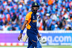 Hardik Pandya of India cuts a dejected figure after getting out - Mandatory by-line: Robbie Stephenson/JMP - 30/06/2019 - CRICKET - Edgbaston - Birmingham, England - England v India - ICC Cricket World Cup 2019 - Group Stage