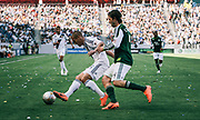 during the first half of an MLS soccer match, Sunday, June 17, 2012, in Carson, Calif. (AP Photo/Bret Hartman)