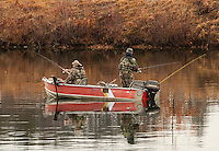 Opening day for salmon fishing in Laconia, NH.  Karen Bobotas/for the Laconia Daily Sun