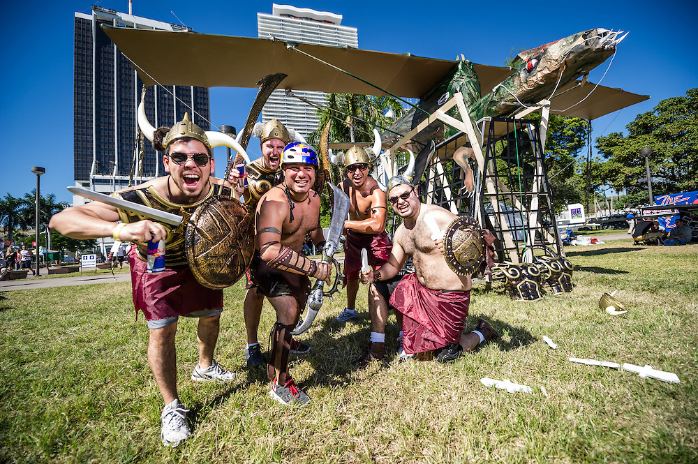Dragon Riders  -  Pose for a portrait at RedBull Flugtag in Miami, Florida on 11/03/2012