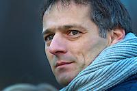 BLOEMENDAAL - 28-11-2010  Assistent coach Dave Smolenaars . Een geemotioneerde Bloemendaal coach Max Caldas nam zondag afscheid van Bloemendaal Hockeymannen . Caldas wordt bondscoach bij de dames van Oranje. COPYRIGHT KOEN SUYK