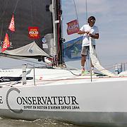 Yannick Bestaven sur LE CONSERVATEUR / Class 40 N° 98