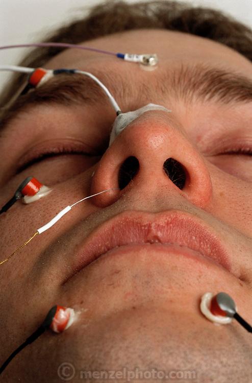 Pherin Pharmaceutical in Mountain View, California. Vomero nasal organ research (pheromones). MODEL RELEASED (2002)