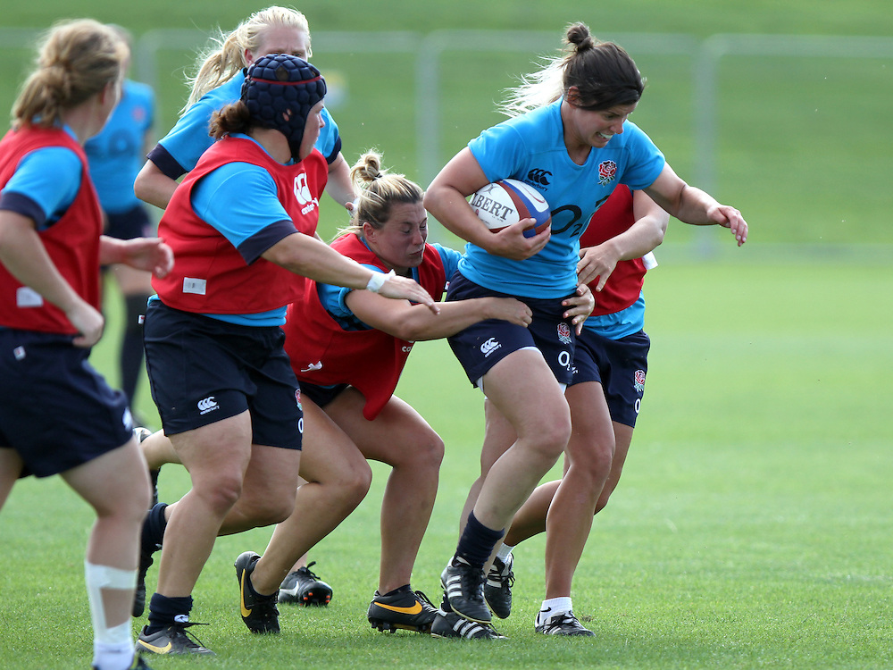 Sarah Hunter during training. England WRWC Training Camp at Surrey Sports Park, Guildford, England on 22 July 2104.