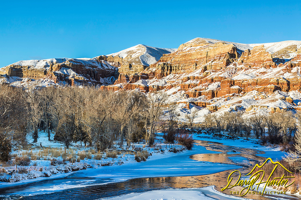 Wind River winter at the badlands of Dubois Wyoming. I love the juxtaposition of desert, water and snow.