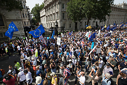 © Licensed to London News Pictures. 23/06/2018. London, UK. The People's Vote March for a second EU referendum passes Downing Street. Photo credit: Peter Macdiarmid/LNP
