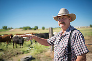 Bill Gales of Homstead Natural Foods on Bill's ranch in Middleton, Idaho.