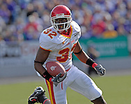 Iowa State wide receiver Milan Moses rushes up field in the first half against Kansas State at Bill Snyder Family Stadium in Manhattan, Kansas, October 28, 2006.  The Wildcats beat the Cyclones 31-10.<br />