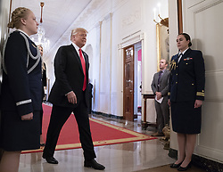 October 31, 2018 - Washington, District of Columbia, U.S. - United States President Donald J. Trump and advisor Ivanka Trump arrive for the ''Our Pledge to America's Workers'' event at The White House in Washington, DC,  October 31, 2018. Credit: Chris Kleponis / Pool via CNP (Credit Image: © Chris Kleponis/CNP via ZUMA Wire)