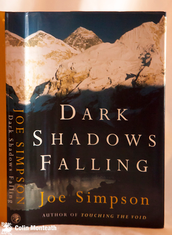 DARK SHADOWS FALLING,  Joe Simpson, Jonathan Cape, London, 1st edn., 1997, 200 page hardback, as new with VG+ jacket, colour plates, a well-writen perspective on the rapidly changing ethics of climbing on Everest - $NZ55