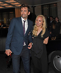 David Tennant and his wife Georgia Moffett seen leaving the Tv Choice Awards Following David's Win. David was seen looking a little worse for wear behind held onto by his wife following his win. <br /><br />5 September 2017.<br /><br />Please byline: Vantagenews.com