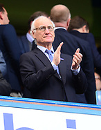 Bruce Buck, the chairman of Chelsea looks on from the stand. Premier league match, Chelsea v Arsenal at Stamford Bridge in London on Sunday 17th September 2017.<br /> pic by Andrew Orchard sports photography.