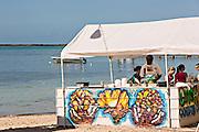 Beach bar in Dunmore Town, Harbour Island, The Bahamas.