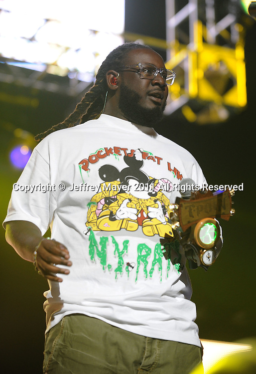 LOS ANGELES, CA - MAY 14: T-Pain performs at KIIS FM's 2011 Wango Tango Concert at Staples Center on May 14, 2011 in Los Angeles, California.