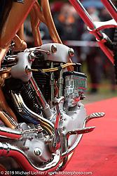Rams MC (Norway) Fredrik Von Der Lippe's S&S Knucklehead loop frame chopper in the Twin Club's annual Custom Bike Show in Norrtälje, Sweden. Saturday, June 1, 2019. Photography ©2019 Michael Lichter.
