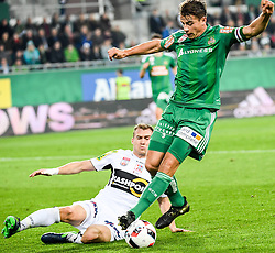 15.10.2016, Allianz Arena, Wien, AUT, 1. FBL, SK Rapid Wien vs Cashpoint SCR Altach, 11. Runde, im Bild Stefan Schwab (SK Rapid Wien) und Lukas Jaeger (Cashpoint SCR Altach) // during Austrian Football Bundesliga Match, 11th Round, between SK Rapid Vienna and Cashpoint SCR Altach at the Allianz Arena, Vienna, Austria on 2016/10/15. EXPA Pictures © 2016, PhotoCredit: EXPA/ Michael Gruber