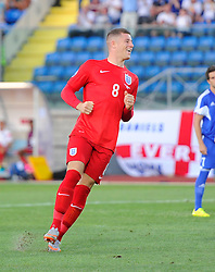 Ross Barkley of England (Everton) celebrates his goal  - Mandatory byline: Joe Meredith/JMP - 07966386802 - 05/09/2015 - FOOTBALL- INTERNATIONAL - San Marino Stadium - Serravalle - San Marino v England - UEFA EURO Qualifers Group Stage