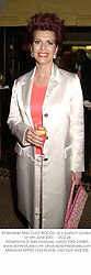 Entertainer MISS CLEO ROCOS, at a party in London on 6th June 2001.<br />
