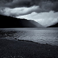 Lake Cresent storm warning #2 edited & converted to B&W 2/06/19 printed 2/10/19 1/1 17x22