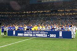 """Foto oficial da 10ª edição do Jogo Contra a Pobreza - Match Against Poverty que acontece na """"Arena do Grêmio"""" em Porto Alegre. FOTO: Marcos Nagelstein/Preview.com/PNUD"""