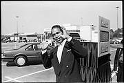 """Athlete,spokesman and later - accused double murder O. J Simpson during a filming of a television ad at the Atlanta Airport. Simpson was the face of Hertz Rent a Car for many years.<br /> Orenthal James Simpson -born July 9, 1947, nicknamed """"the Juice"""", is a retired American football player, broadcaster, actor, and convicted felon currently incarcerated at the Lovelock Correctional Center in Nevada. Simpson played college football at the University of Southern California (USC), where he won the Heisman Trophy in 1968. He then played professionally in the National Football League (NFL) as a running back for 11 seasons, with the Buffalo Bills from 1969 to 1977 and with the San Francisco 49ers from 1978 to 1979.<br /> <br /> Simpson was the first NFL player to rush for more than 2,000 yards in a season, a mark he set in 1973. While six other players have passed the 2,000-rush yard mark, he stands alone as the only player to rush for more than 2,000 yards in a 14-game season; the NFL changed to a 16-game season in 1978. He holds the record for the single season yards-per-game average, which stands at 143.1. Simpson was inducted into the College Football Hall of Fame in 1983 and the Pro Football Hall of Fame in 1985. After retiring from professional football, he had a career as a football broadcaster and actor.<br /> <br /> In 1995, he was acquitted of the 1994 murders of his ex-wife, Nicole Brown Simpson, and Ronald Goldman after a lengthy and internationally publicized criminal trial, the People v. Simpson. In 1997, a civil court awarded a judgment against Simpson for their wrongful deaths; as of 2007 he had paid little of the $33.5 million judgment.<br /> <br /> In September 2007, Simpson was arrested in Las Vegas, Nevada, and charged with numerous felonies, including armed robbery and kidnapping.  In 2008, he was found guilty  and sentenced to 33 years imprisonment, with a minimum of nine years without parole.He is serving his sentence at the Lovelock Correctional Ce"""