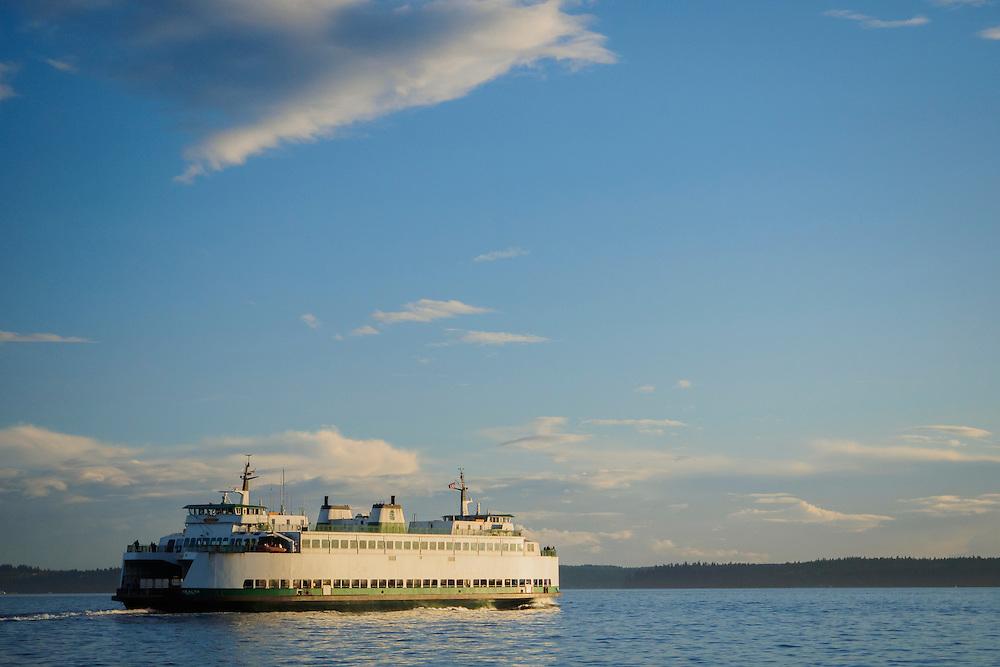 United States, Washington, Seattle, ferry on Elliott Bay