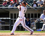CHICAGO - AUGUST 28:  Melky Cabrera #53 of the Chicago White Sox bats against the Seattle Mariners on August  28, 2016 at U.S. Cellular Field in Chicago, Illinois.  The White Sox defeated the Mariners 4-1.  (Photo by Ron Vesely/MLB Photos via Getty Images)  *** Local Caption *** Melky Cabrera