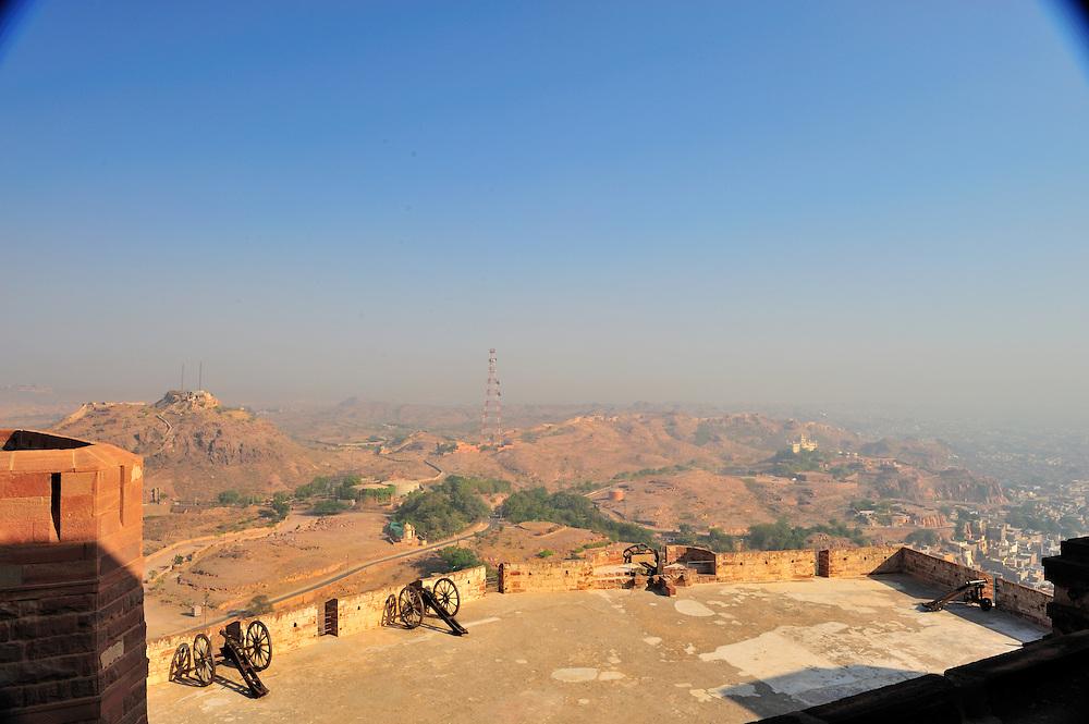 Jodphur's Mehrangarh Fort at Dusk