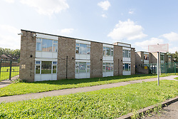 © Licensed to London News Pictures. 06/09/2015. London, UK. Fernways sheltered housing unit in Fernways off Cecil Road in Ilford, Essex. Police attended the unit last night following reports of an assault. A woman aged in her mid-50's and a man in his mid-80's were pronounced dead at the scene last night, who suffered stabbing injuries. Photo credit : Vickie Flores/LNP