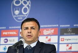 Igor Angelovski, coach of Macedonia during press conference after the football match between National teams of Slovenia and North Macedonia in Group G of UEFA Euro 2020 qualifications, on March 24, 2019 in SRC Stozice, Ljubljana, Slovenia. Photo by Masa Kraljic / Sportida