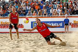 20150830 NED: NK Beachvolleybal 2015, Scheveningen<br />Sven Vismans, Wessel Keemink