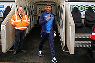 Wimbledon defender Paul Kalambayi (30) arrives during the EFL Sky Bet League 1 match between Coventry City and AFC Wimbledon at the Ricoh Arena, Coventry, England on 12 January 2019.