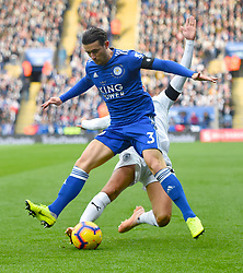 Leicester City's Ben Chilwell in action during the Premier League match at the King Power Stadium, Leicester.
