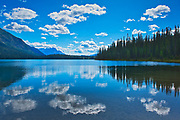 Cloud reflection at Emerald Lake<br />