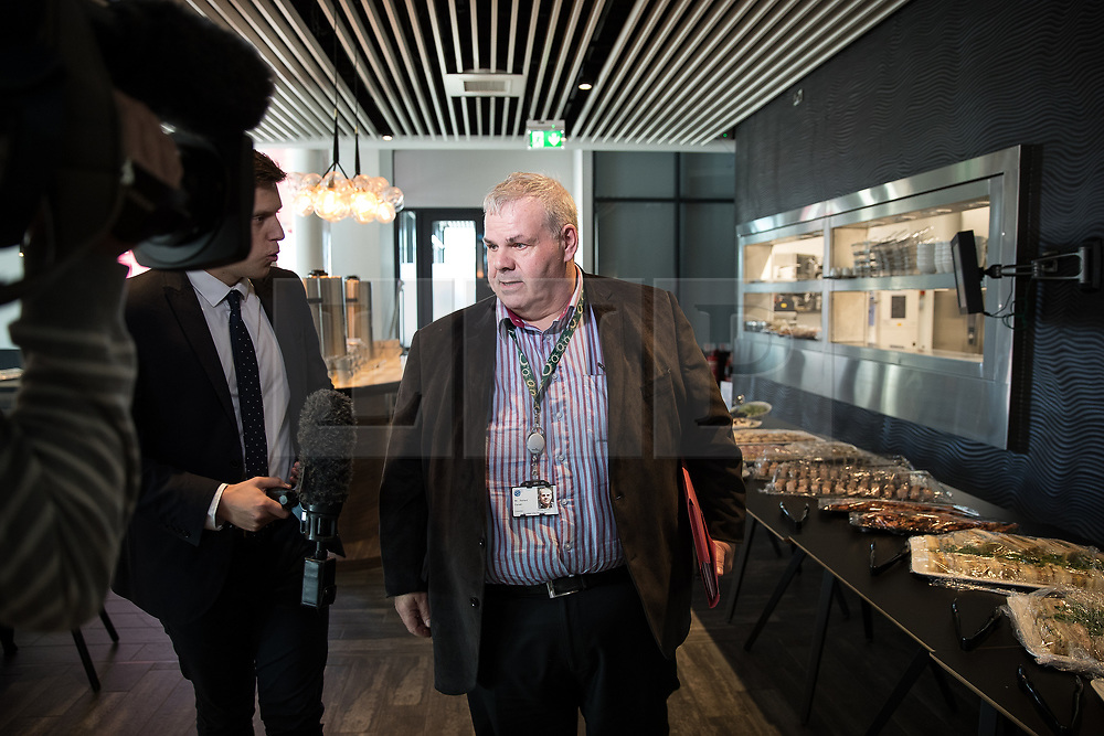 © Licensed to London News Pictures . 27/10/2017 . Manchester , UK . RICHARD FARNELL , leader of Rochdale City Council , at the Lowry Centre in Salford after a meeting of the Greater Manchester Combined Authority . Farnell has been accused of lying to an ongoing Child Sexual Abuse enquiry about a report in to sexual abuse by men , including MP Cyril Smith , at Knowl View School . Photo credit : Joel Goodman/LNP