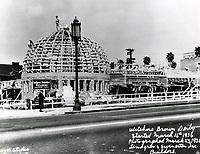 1936 2nd Brown Derby Hat under construction on Wilshire Blvd.