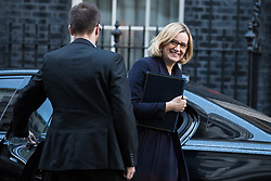 © Licensed to London News Pictures. 28/11/2017. London, UK. Home Secretary Amber Rudd arrives on Downing Street for the weekly Cabinet meeting. Photo credit: Rob Pinney/LNP