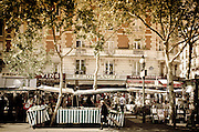 Outdoor market, Boulevard Saint-Germain, Left Bank, Paris, France