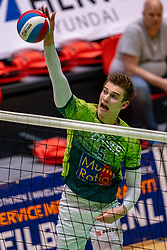 Colin Zuijdgeest of Orion in action during the semi cupfinal between Active Living Orion vs. Amysoft Lycurgus on April 03, 2021 in Saza Topsportshall Doetinchem