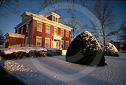 Harrisburg, PA Front Street, Mansions now Corporate Offices, Snow