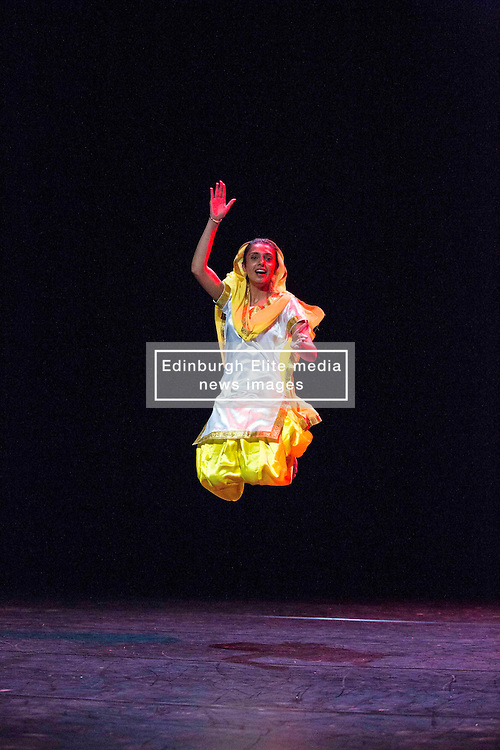 Pictured:  Mela on Your Doorstep event. A snapshot of the annual Glasgow Mela, which takes place next weekend, including music and dance. Tramway Bhangra Dance by APV <br /> <br /> Karen Gordon  (c) Edinburgh Elite media 10 July 2016