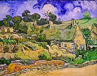 France, Paris (75), zone classée Patrimoine Mondial de l'UNESCO, Musée d'Orsay, Chaumes de Cordeville à Auvers-sur-Oise, Vincent Van Gogh // France, Paris, Orsay museum, Chaumes de Cordeville à Auvers-sur-Oise, Vincent Van Gogh