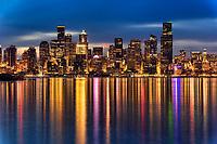 Downtown Seattle, Early Morning Illumination