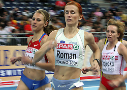 Slovenian long run athlete Sonja Roman in the Qualification when she qualified for finals at the 1st day of  European Athletics Indoor Championships Torino 2009 (6th - 8th March), at Oval Lingotto Stadium,  Torino, Italy, on March 6, 2009. (Photo by Vid Ponikvar / Sportida)
