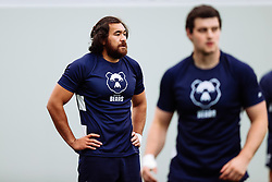 Steven Luatua looks on as Bristol Bears start to use their new almost completed Training centre - Rogan/JMP - 08/07/2020 - RUGBY UNION - Beggar Bush Lane - Bristol, England.