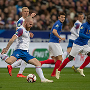 PARIS, FRANCE - March 25: Aron Gunnarsson #17 of Iceland in action during the France V Iceland, 2020 European Championship Qualifying, Group Stage at  Stade de France on March 25th 2019 in Paris, France (Photo by Tim Clayton/Corbis via Getty Images)