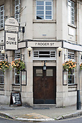Mid twentieth century pub, The Duke on the 27th September 2019 in London in the United Kingdom.