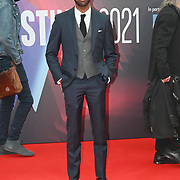 Jaygann Ayeh arrives at The Souvenir Part II - BFI London Film Festival 2021 at Southbank Centre, Royal Festival Hall, London, 8 October 2021.