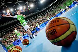 Gezim Morina of Slovenia during basketball match between National teams of Slovenia and France in Quarterfinal Match of U20 Men European Championship Slovenia 2012, on July 20, 2012 in SRC Stozice, Ljubljana, Slovenia. (Photo by Matic Klansek Velej / Sportida.com)